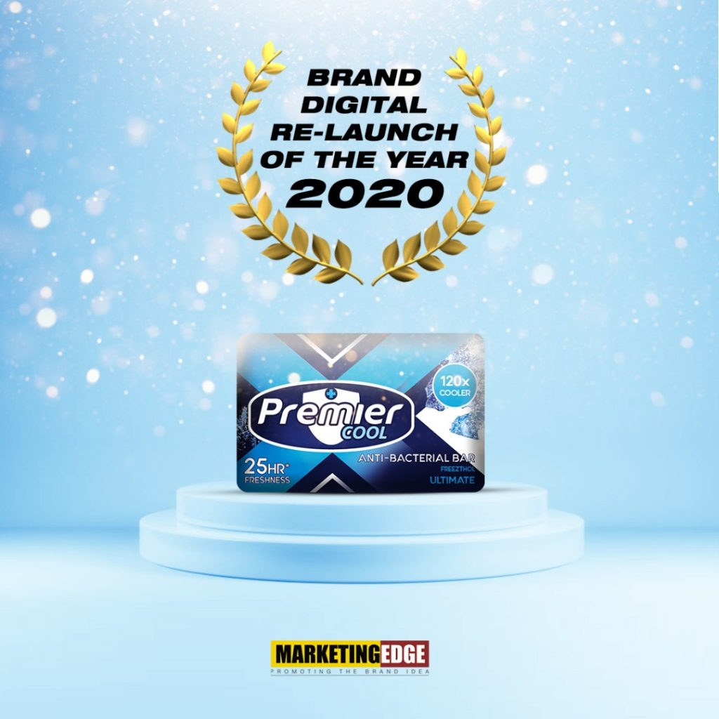 PREMIER COOL WINS BRAND RELAUNCH OF THE YEAR